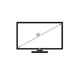 Lcd tv black and white vector Stock Photos