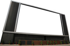 LCD TV with blank screen Isolated Stock Photography