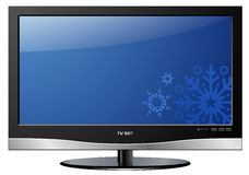 LCD TV Christmas Stock Image