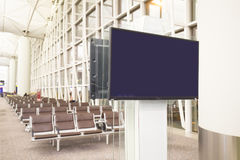 LCD TV with empty copy space Stock Image