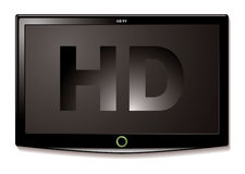 LCD TV HD black Stock Photography