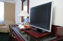 LCD tv in the hotel room Stock Image