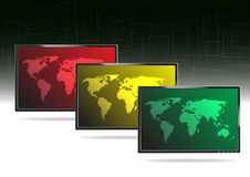LCD TV -  illustration Royalty Free Stock Image