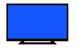 LCD TV. An LCD / LED tv with foot isolated on white Stock Image