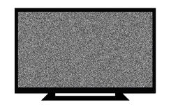 LCD TV. An LCD / LED tv with foot isolated on white Stock Photography