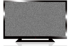 LCD TV. An LCD / LED tv with foot isolated on white Royalty Free Stock Image