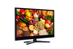 Lcd TV met hoge beeldkwaliteit Stock Foto's