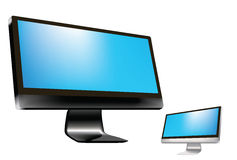 LCD Tv or monitor. Tv or monitor in jpg and vector form, can be scaled and replace the screen with picture or message Royalty Free Stock Photos