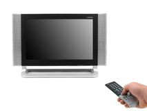 LCD TV Monitor Stock Image