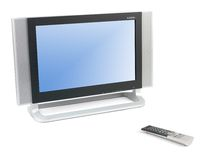 LCD TV Monitor. A LCD TV monitor isolated against a white background Royalty Free Stock Images