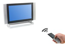 LCD TV Monitor. A LCD TV monitor isolated against a white background Royalty Free Stock Photos