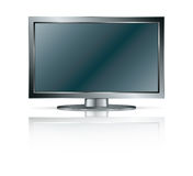 LCD TV/ Monitor. Black LCD TV/Monitor isolated on white background Stock Photography