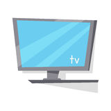 LCD TV Monitor with Blank Screen. Royalty Free Stock Image