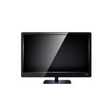 Lcd tv monitor isolated. Royalty Free Stock Photo