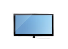 Lcd tv monitor isolated on white background Stock Photos