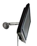 LCD TV/monitor montado em uma parede Foto de Stock Royalty Free