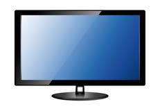 Lcd Tv Monitor, Vector Illustration. Stock Photos