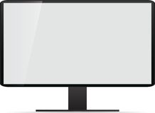 Lcd tv monitor, vector illustration. Stock Image
