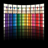 Lcd tv panels - rainbow crayons Stock Image