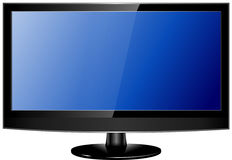 Lcd tv realistic vector illustration Royalty Free Stock Photography