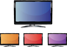 LCD TV Screen Stock Images