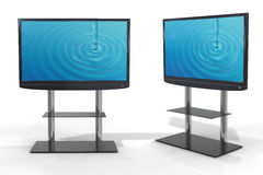 LCD TV set on white background Stock Image