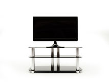 LCD TV with stand Stock Image