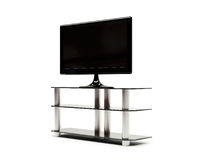 LCD TV with stand Royalty Free Stock Photo