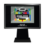 Lcd tv with test vector illustration Stock Photo