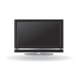Lcd tv vector. Lcd tv detail illustration vector Royalty Free Stock Photo