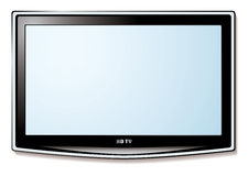 LCD tv white screen Royalty Free Stock Photography