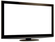 LCD TV & White Screen XXL + Clipping Path Stock Photos