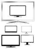 LCD TVs Collection Stock Photo