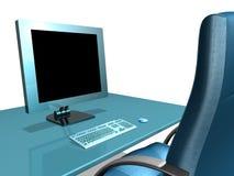LCD VAN HET BUREAU MONITOR Stock Afbeelding