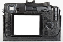LCD view of well used, retro style digital camera Stock Image