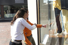 Lèche-vitrines Photo stock