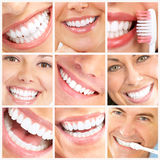 Lächeln und Zähne Stockbild