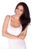Lächelnde Brunettefrau Stockfotos
