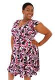 Lächelnde glückliche junge Afroamerikaner-Frau Stockfoto