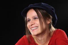 Lächelnde junge Frau Lizenzfreies Stockfoto