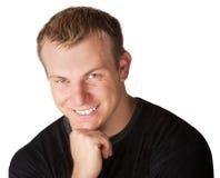 Lächelnder athletischer junger Mann Stockfotografie