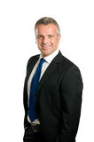 Lächelnder fälliger Geschäftsmann Lizenzfreies Stockfoto