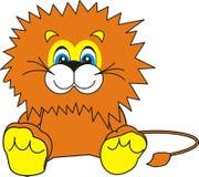Lächelnder kleiner Löwe Stockfoto