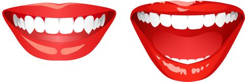 Lächelnder Mund Stockfoto