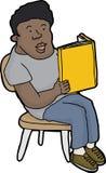 Lächelnder Person Reading Stockfoto