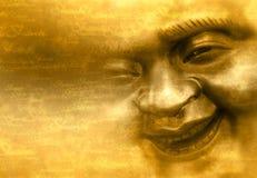 Lächelndes Gesicht von Buddha Lizenzfreies Stockfoto