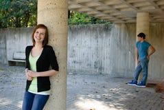 Lächelndes jugendlich Mädchen Stockfotografie