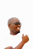 Lächelndes Portrait des schwarzen Mannes Stockfotografie