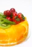 läcker frukt för cake Royaltyfria Foton