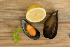 Läcker musslamaträtt Arkivbild